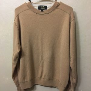 Lords of London Cashmere Sweater Men's L Tan